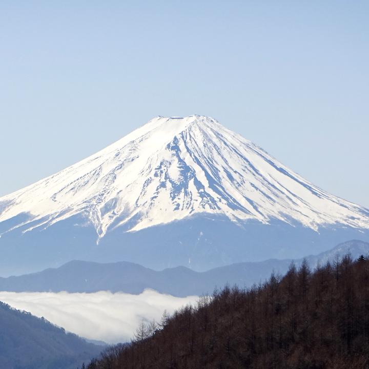 柳沢峠,富士山