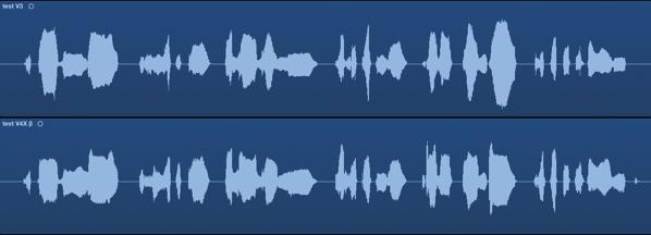 初音ミク V3 V4Xβ 比較
