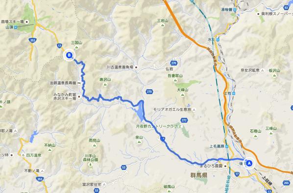 後閑駅 三国峠 ルート