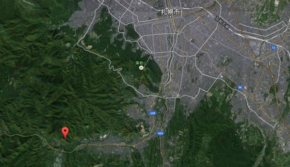 八剣山 地図