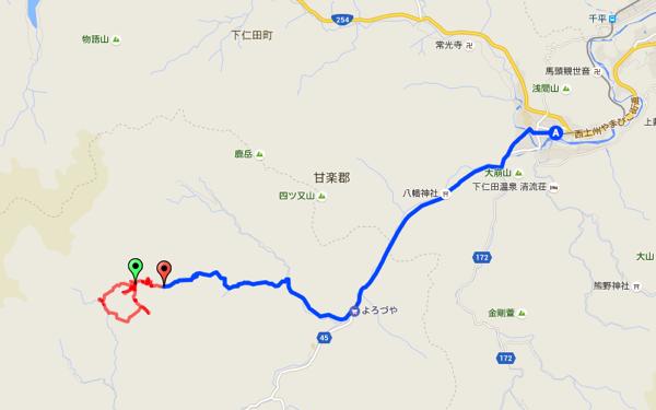 下仁田-南牧村 黒瀧山