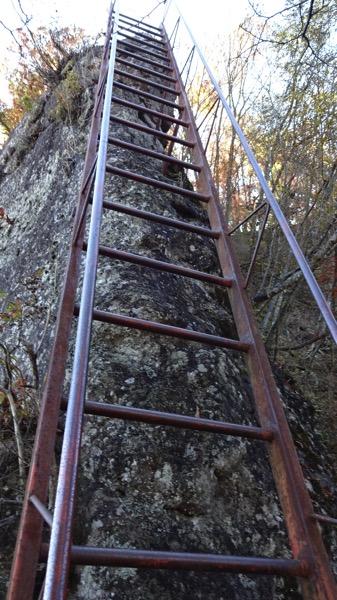 黒瀧山 梯子