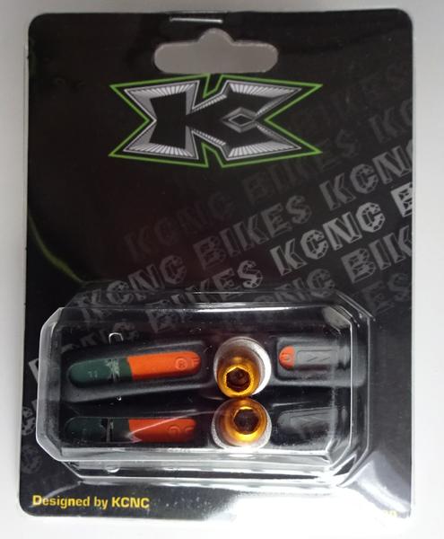 KCNC 軽量Vブレーキパッド チタニウムボルト