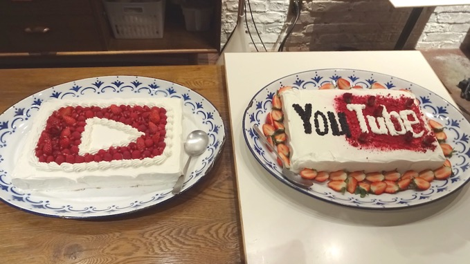 YouTube ケーキ