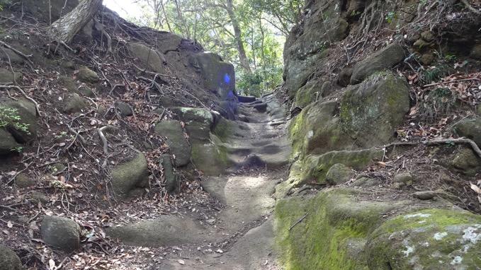 鋸山 登山道