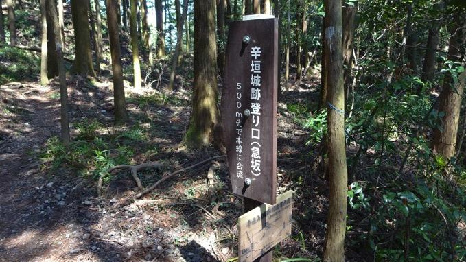 青梅丘陵ハイキング コース 辛垣山
