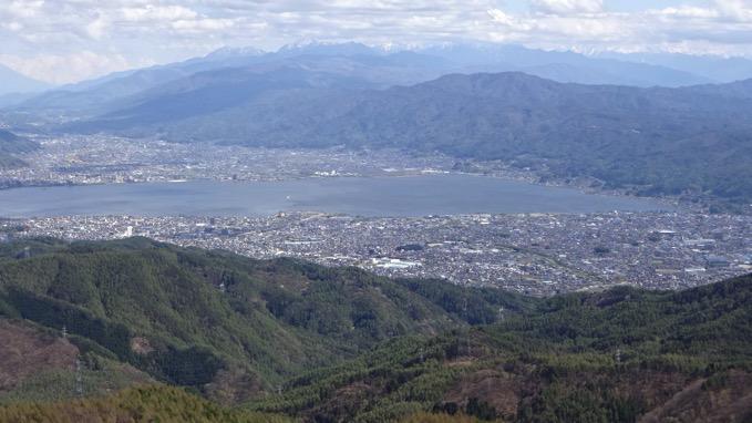 高ボッチ高原 眺め 諏訪市街地