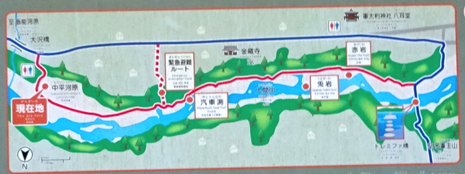 吾妻峡 地図