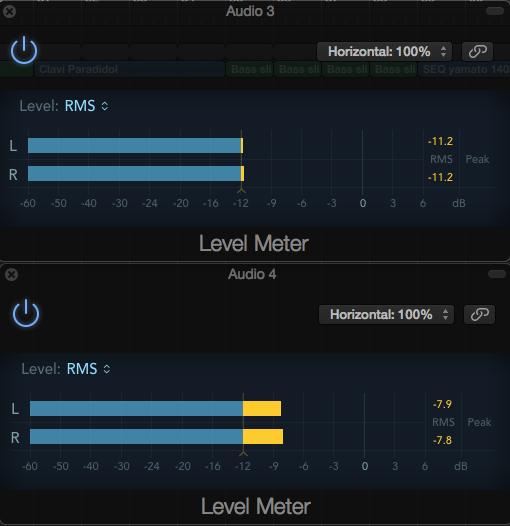 Landr level meter