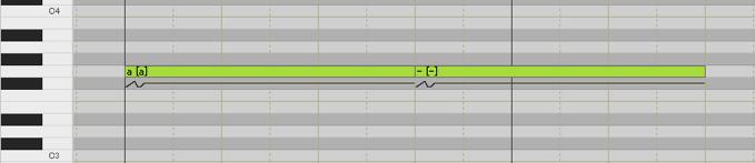 調声 母音分割 ハイフン