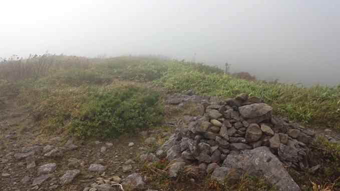 横津岳 自転車 山頂