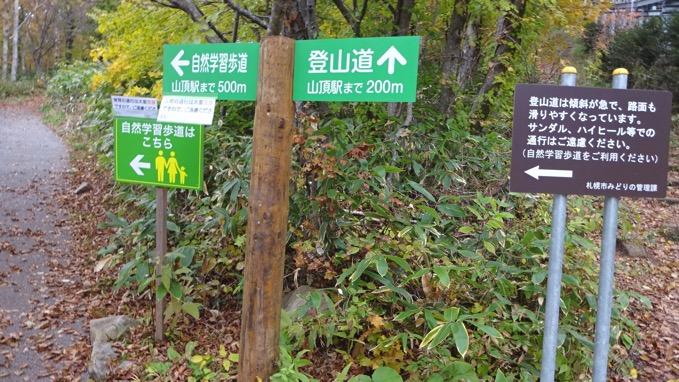 藻岩山 登山道 コース
