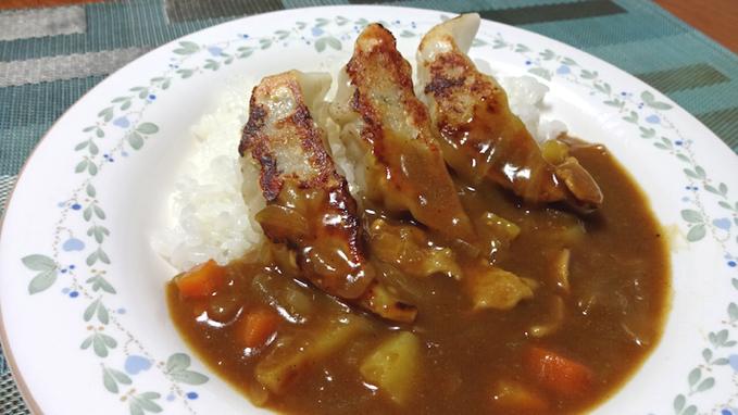 自作 餃子カレー