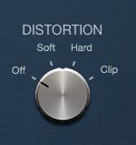 Logic Pro コンプレッサー DISTORTION