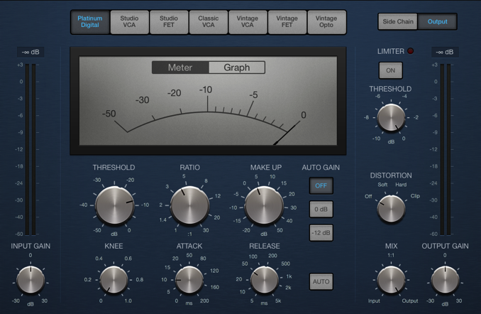 Logic Pro Platinum Digital compressor