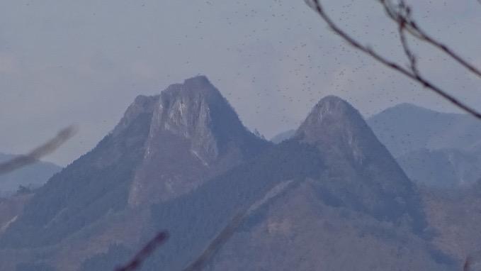 四阿屋山 登山 山頂 展望 二子山