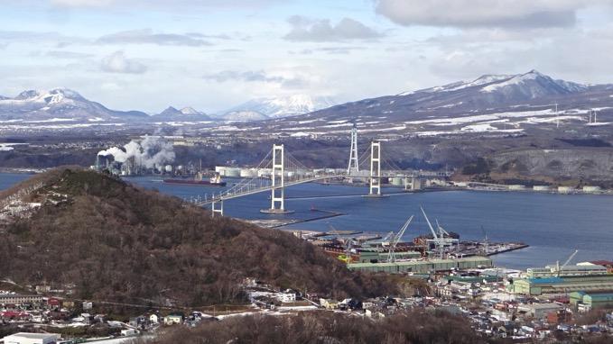 測量山 登山 展望台 白鳥大橋