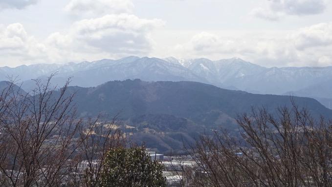 津久井城山ハイキング 展望台 丹沢