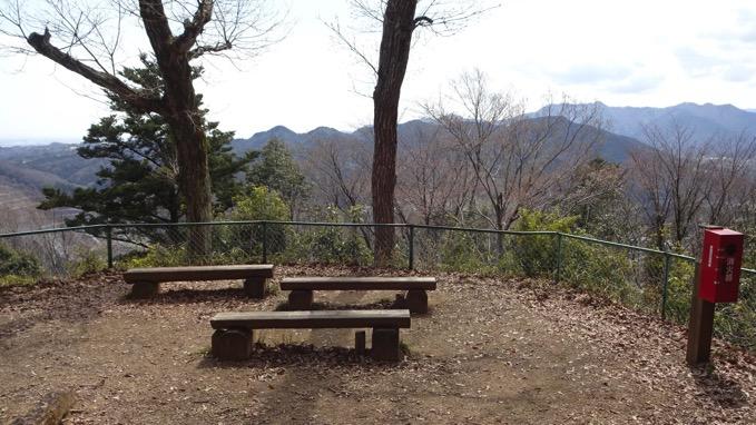 津久井城山ハイキング 展望台