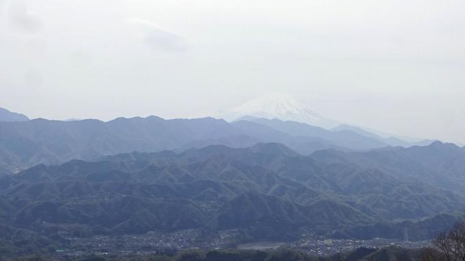 陣馬山 山頂 富士山