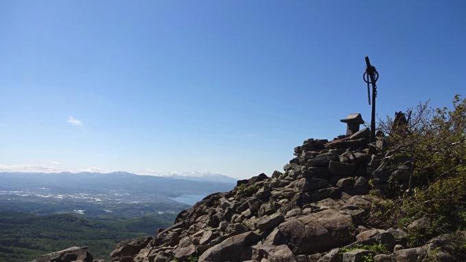 塩谷丸山 登山 山頂