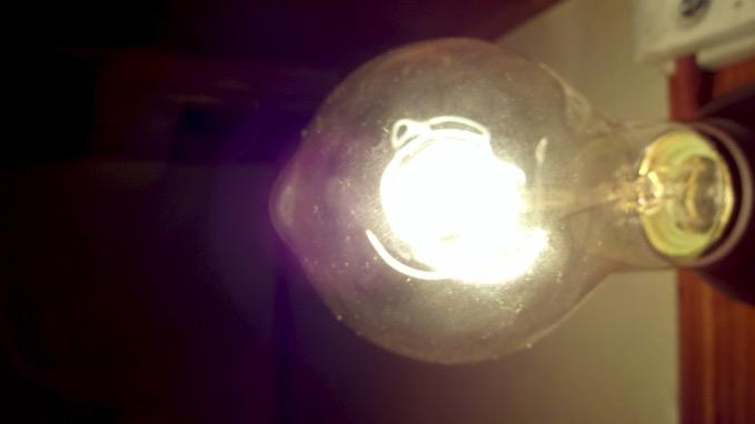 ニトリのアンティーク電球