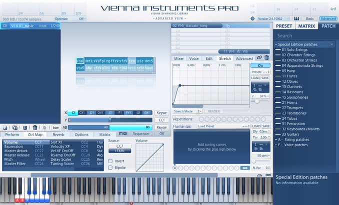 vienna special edittion instruments pro