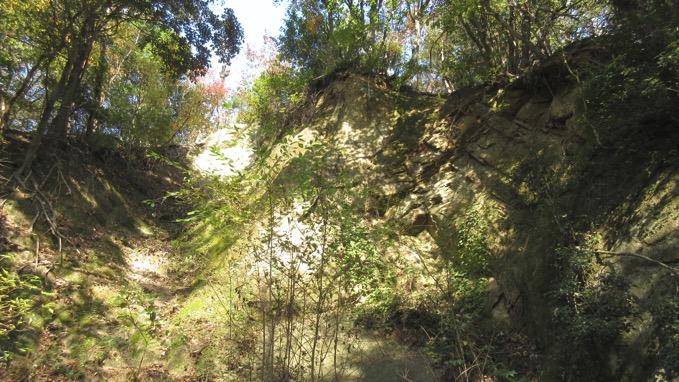 石切り場跡