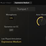 Logic Pro新音源「Studio Horns」「Studio Strings」のアーティキュレーションの変更方法