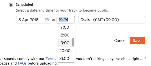soundcloud scheduled