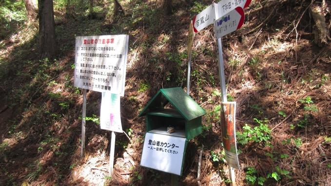百蔵山 登山口