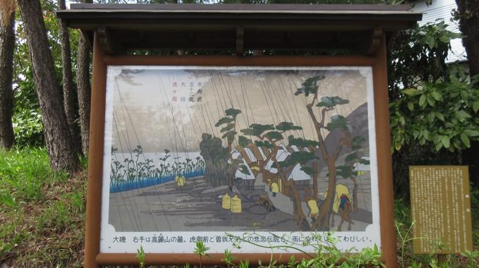 東海道五十三次 大磯 虎ヶ雨