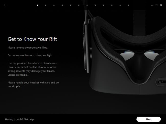 Oculus セットアップ