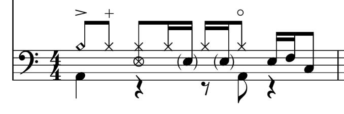 finale ドラム譜