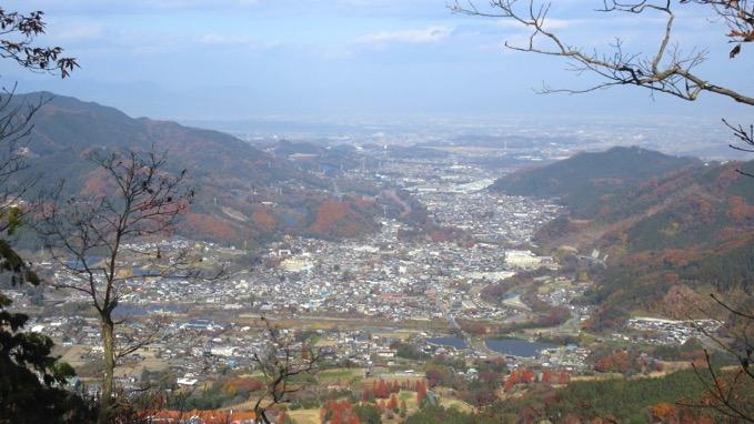 横隈山 山頂 眺望