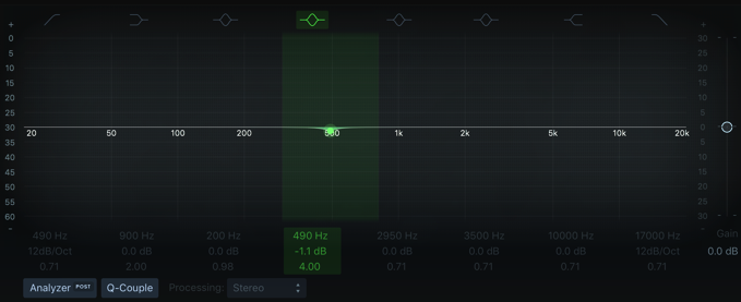 Logic Pro Linear Phase EQ