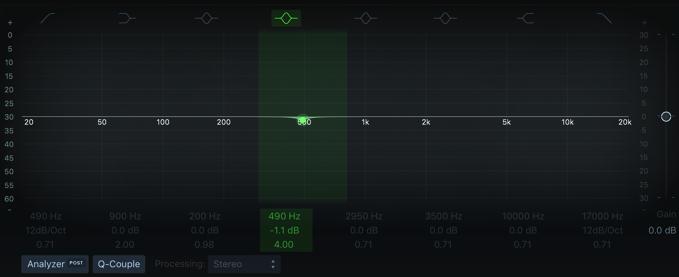 Logic Pro Linear Phase EQ