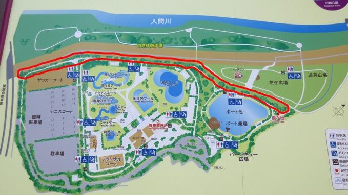 川越水上公園 桜 地図