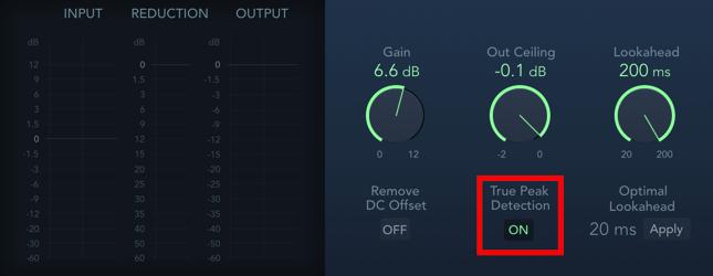 true peak detection