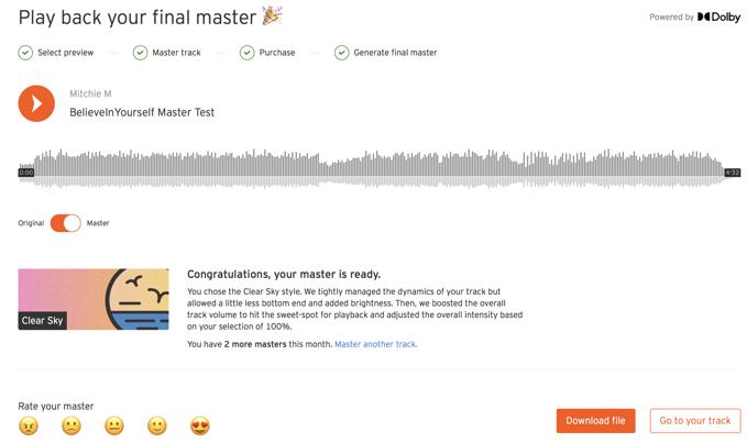 soundcloud mastering