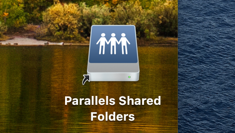parallels shared folder